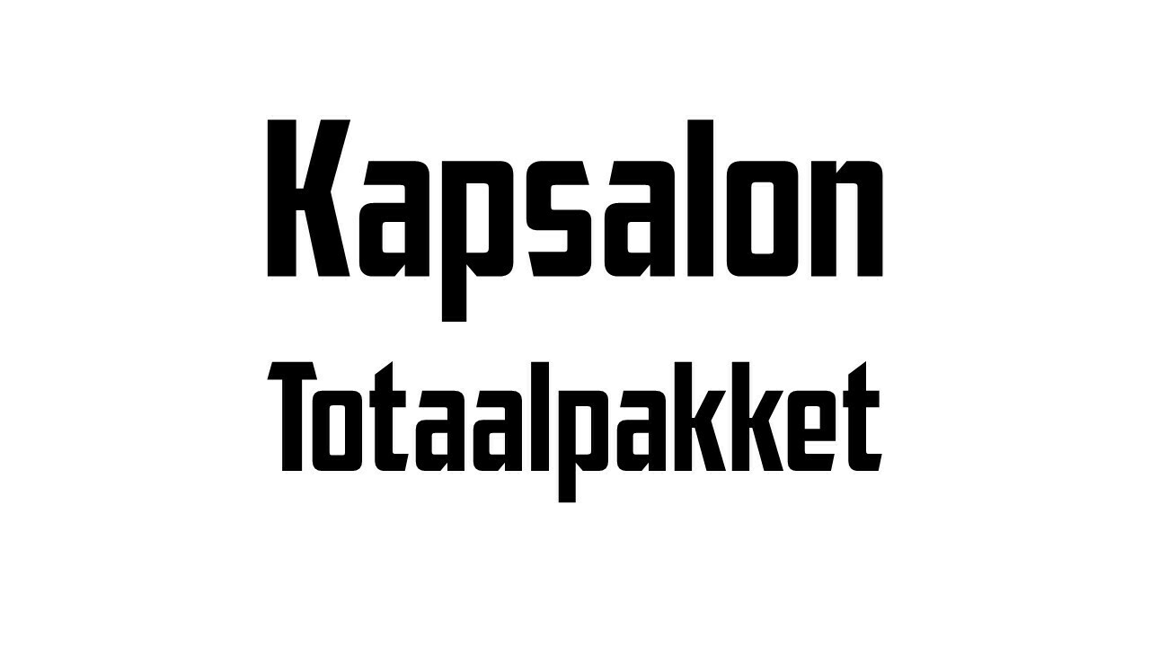 Openings-Kit / Kapsalons
