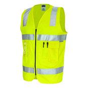 DNC 190GSM DAY/NIGHT COTTON SAFETY VEST. 3M8906 R/TAPE