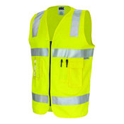DNC 190GSM DAY/NIGHT COTTON SAFETY VEST. 3M8906 R/TAPE