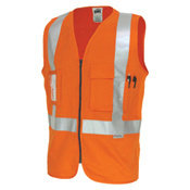 DNC 190GSM DAY/NIGHT CROSS BACK COTTON SAFETY VEST. 3M8906 R/TAPE
