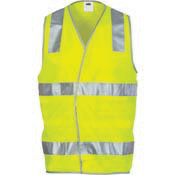 DNC DAY/NIGHT SAFETY VEST WITH  HOOP & SHOULDER CSR R/TAPE