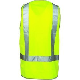 DNC DAY & NIGHT SAFETY VEST WITH  H PATTERN CSR R/TAPE
