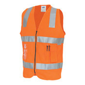 DNC DAY/NIGHT SIDE PANEL SAFETY VEST. 3M8906 R/TAPE