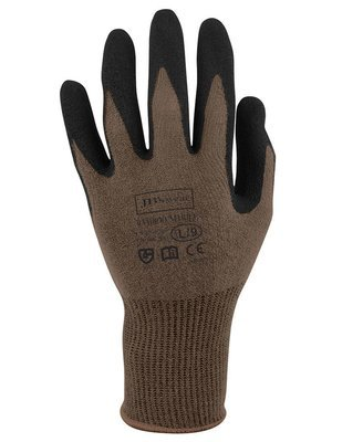JB'S BAMBOO SANDY NITRILE 1/2 DIPPED GLOVE  (12 Pack)