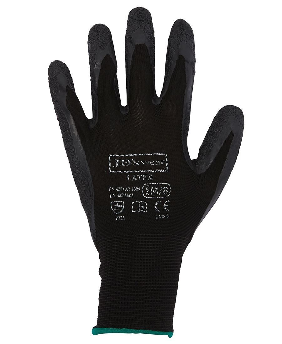 JB'S BLACK LATEX GLOVE (12 Pack)