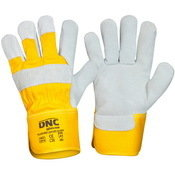 DNC GLOVES YELLOW GREY  LEATHER GLOVE