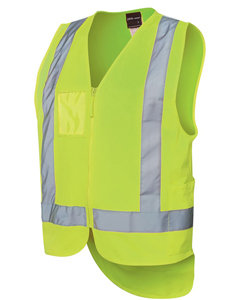 JBs HI VIS ZIP DROP TAIL H PATTERN (D+N) VEST