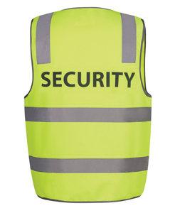 """JBs D+N SAFETY VEST PRINT """"SECURITY"""" LIME"""
