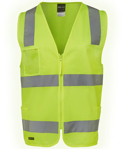 JBs HI VIS (D+N) ZIP SAFETY VEST