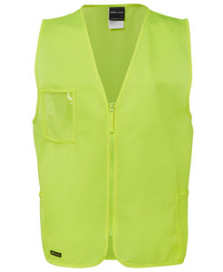 JBs HI VIS ZIP SAFETY VEST