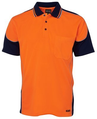 JB'S HI VIS CONTRAST PIPING POLO
