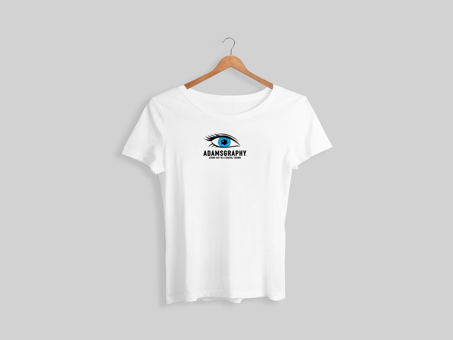 Adamsgraphy T-shirt in White Colour.