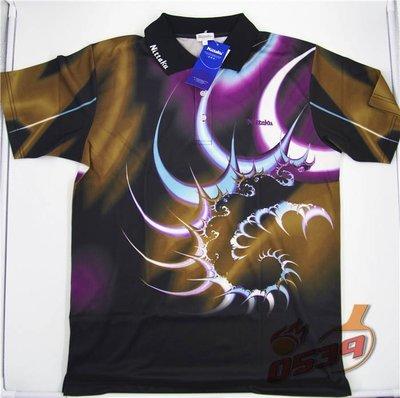 Nittaku Table Tennis Shirt DT2007-1 / 尼塔库 乒乓球运动短袖 火影飞轮 DT2007-1