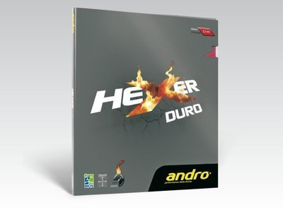 andro® HEXER DURO / 岸度安度HEXER黑煞D内能DURO乒乓球胶皮反胶套胶
