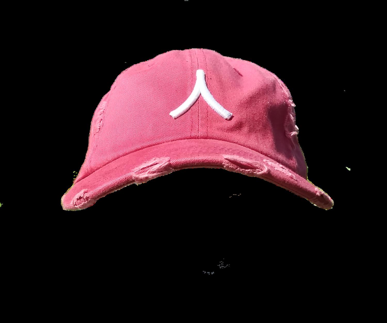 Character By Rakiem Logo Branded Destressed Cap - Red