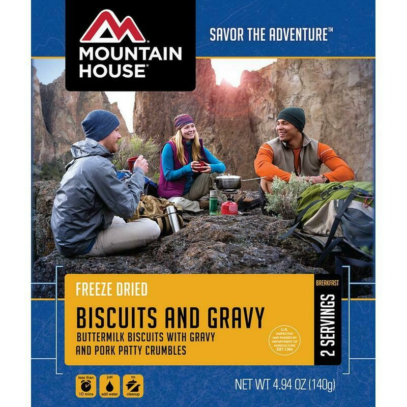 Mountain House Freeze Dried Meal - Biscuits and Gravy