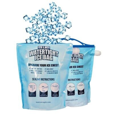 2-Pack Reusable Watertight Ice Bags - For Rent
