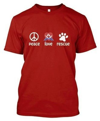 Peace Love Rescue T-Shirt (Red)