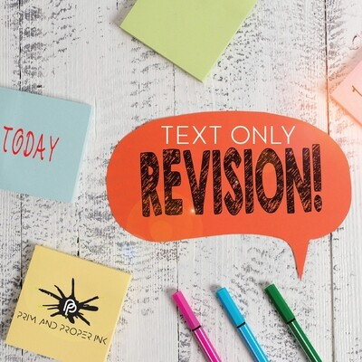 TEXT ONLY FILE REVISION (per file)