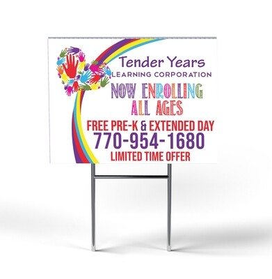 24 x 18 Full Color Yard Sign