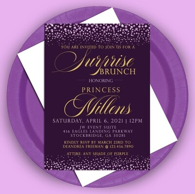 Purple Passion Invitation