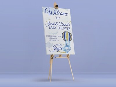 Beary Cute Welcome Sign