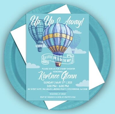 Up Up And Away Invitation