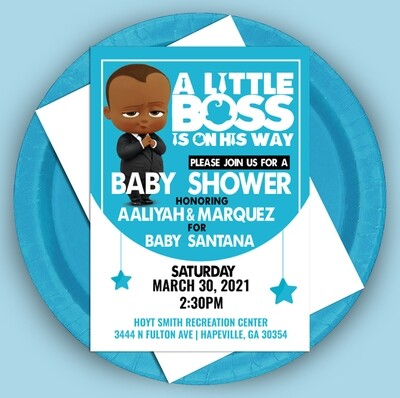 Little Baby Boss Invitation