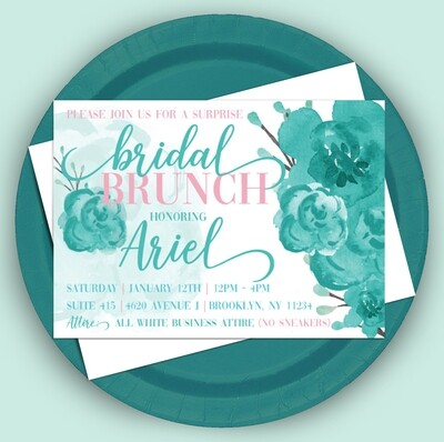 Bridal Brunch in Teal