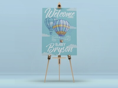 Up Up And Away Welcome Sign
