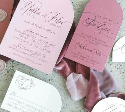 CUSTOM SHAPES: ONE SIDED FLAT INVITATIONS