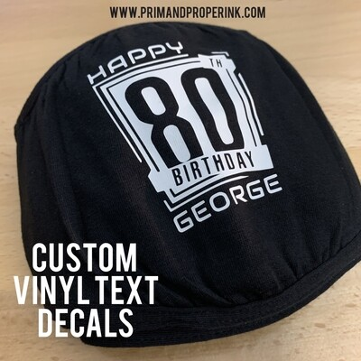"Custom 3"" Vinyl Decals"