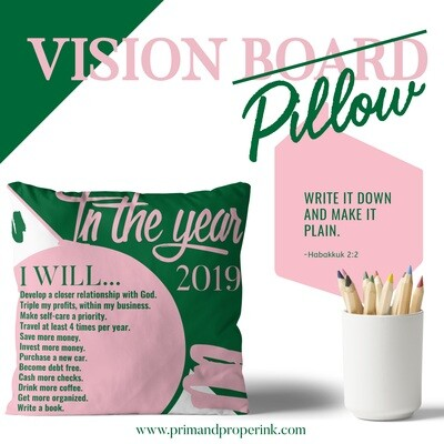 Annual Resolution Pillow