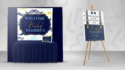 6x6 Backdrop & Welcome Poster Combo