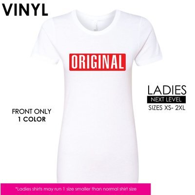 Original _ Ladies or Mens/Unisex