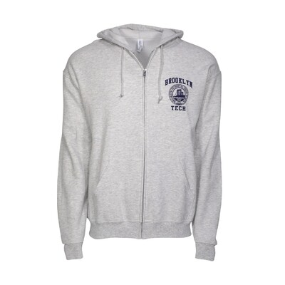 Zippered Hooded Sweatshirt - Logo Imprint