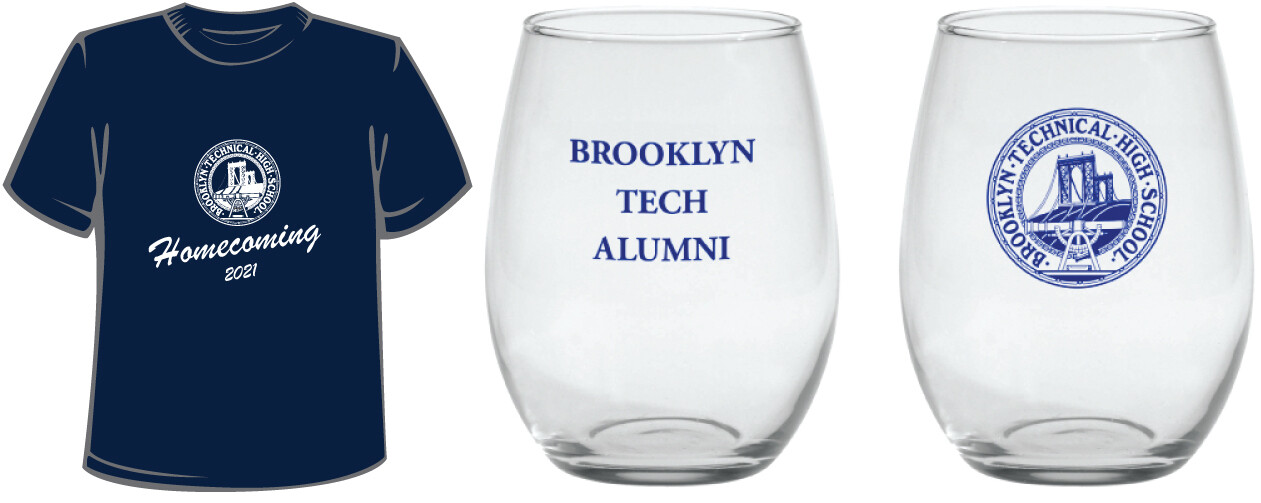 Homecoming 2021 Bundle B - T-shirt and Toast Glass