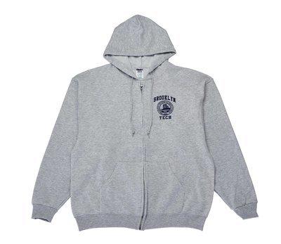 Zippered Hooded Sweatshirt - Logo Imprint