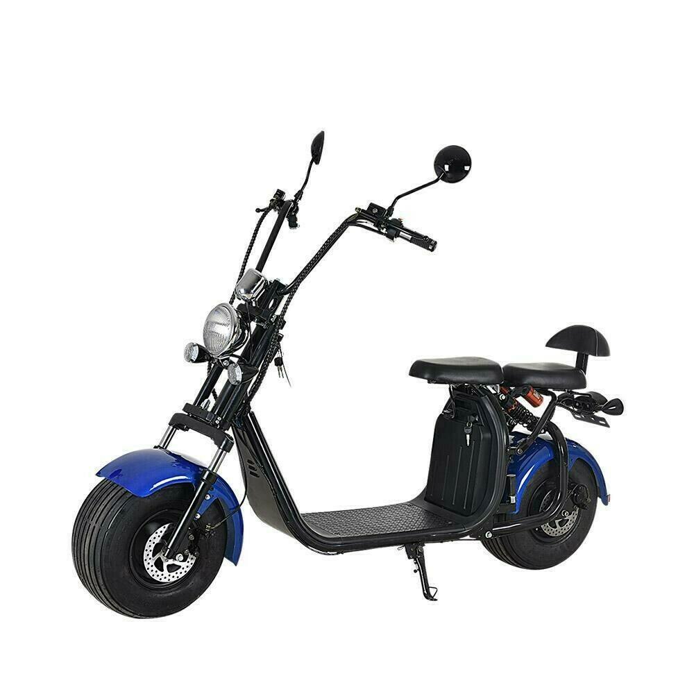 Scooter  Electrique City Coco Cool Homologué Route - Carte grise -  Bleu