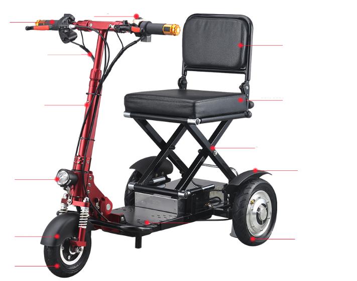 Scooter Electrique Pliable - Compartiment télescopique