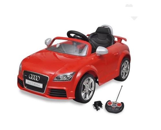 Voiture électrique pour enfant Audi TT RS rouge avec télécommande