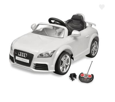 Voiture électrique pour enfant Audi TT RS blanc avec télécommande