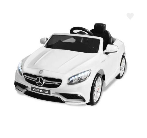 Voiture électrique pour enfants Mercedes Benz AMG S63 Blanc
