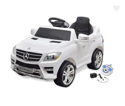 Voiture électrique avec télécommande Mercedes Benz ML350 Blanc