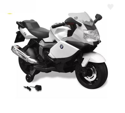 Moto électrique BMW K1300 S blanc pour enfant
