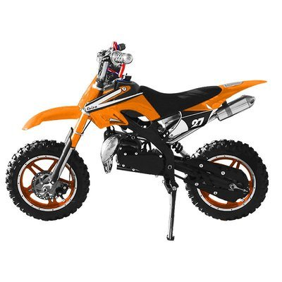 Mini moto cross enfant enduro 49cc Orange