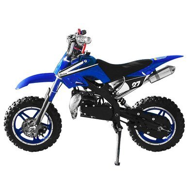 Mini moto cross enfant enduro 49cc Bleu
