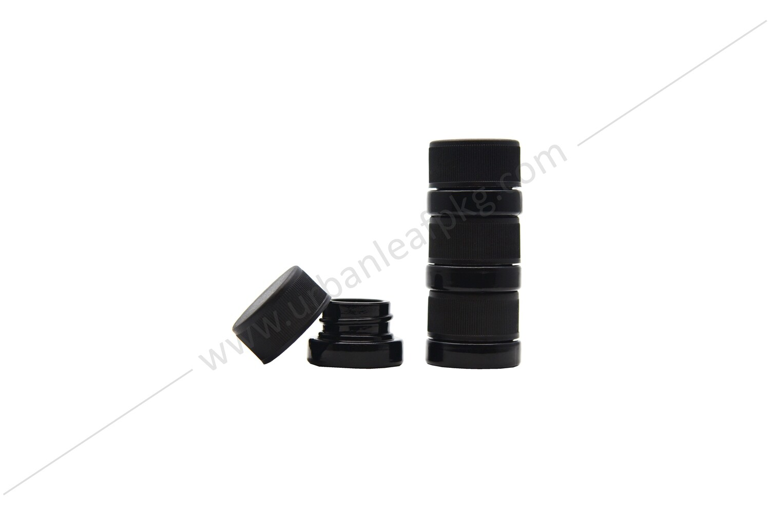 Small Child Resistant Twist Lid Black Glass Jar for Concentrates