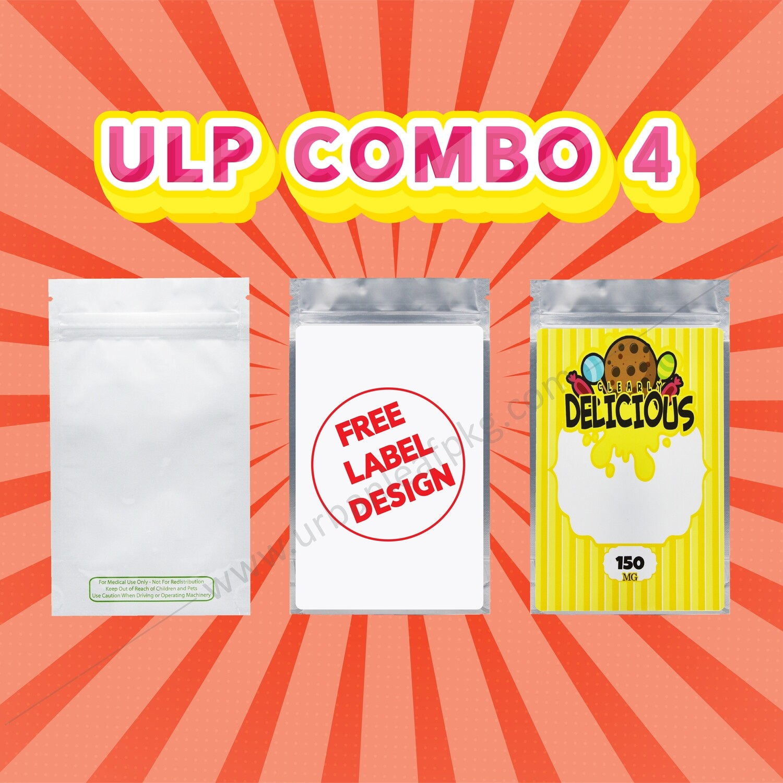 ULP Combo 4 (1/4 oz bag & Custom Label & Free Design)