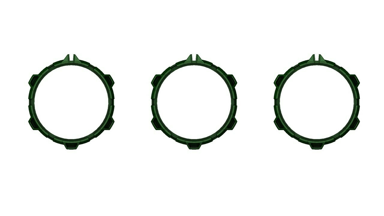 Climate Rings (2016+ Tacoma) - ARMY GREEN